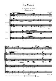 Due Mottetti - Schott Music