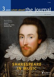 SHAKESPEARE IN MUSIC - Schott Music