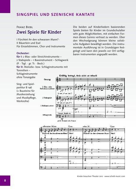Kinder brauchen Theater - Schott Music