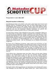 Presse-Info Nr. 3 vom 4. März 2007 Mangold ... - Schotter-Cup