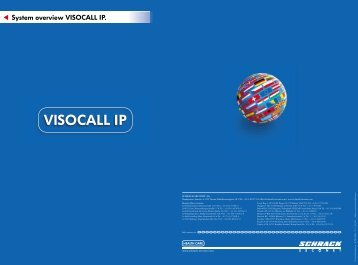 System overview VISOCALL IP. - Schrack Seconet