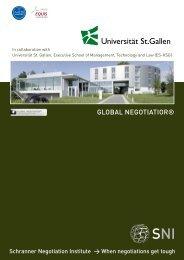 Global Negotiator Brochure - Matthias Schranner