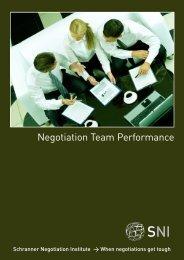 Negotiation Team Performance Brochure