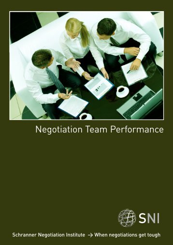 Negotiation Team Performance Brochure