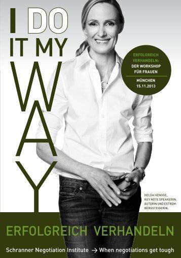 I do it my way - Matthias Schranner