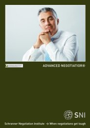 ADVANCED NEGOTIATIOR® - Matthias Schranner