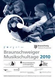 Braunschweiger Musikschultage 2010 - Stadt Braunschweig