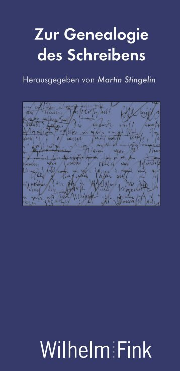 Zur Genealogie des Schreibens