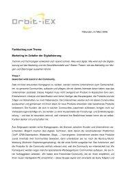 Marketing im Zeitalter der Digitalisierung - Schreibwerkstatt GmbH