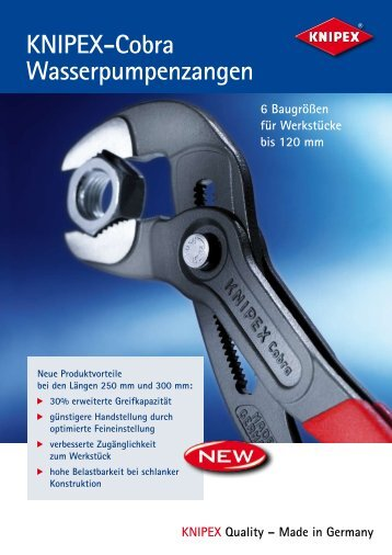 KNIPEX-Cobra Wasserpumpenzangen - Schreinerhandel.de