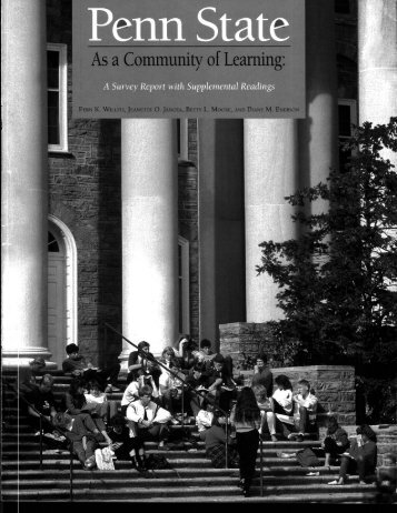 Penn State As a Community of Learning - Schreyer Institute for ...