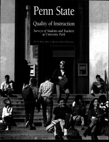 Quality of Instruction - Schreyer Institute for Teaching Excellence