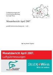 Monatsbericht April 2007. Luftg