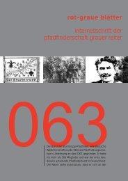 rgb 063 - Die Schriftleitung