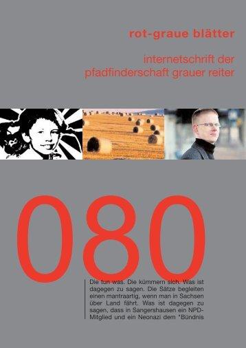 rgb 080 - Die Schriftleitung