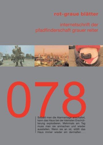 rgb 078 - Die Schriftleitung