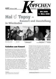 Hai Topsy – - Die Schriftleitung