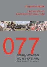 rgb 077 - Schriftleitung der Pfadfinderschaft Grauer Reiter