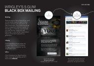 WRIGLEY'S 5 GUM BLACK BOX MAILING