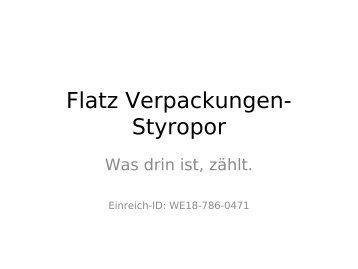 Flatz Verpackungen-Styropor