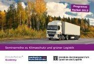 Seminarreihe zu Klimaschutz und grüner Logistik - ClimatePartner