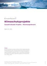 Klimaschutzprojekte - ClimatePartner