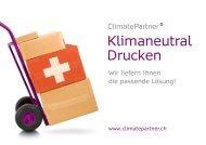 Broschüre Klimaneutral Drucken Schweiz - ClimatePartner