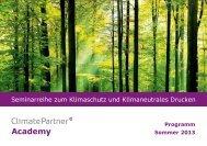 Seminarreihe zum Klimaschutz und Klimaneutrales ... - ClimatePartner