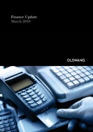 Finance Update March 2010 - Olswang