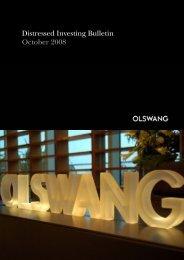 Distressed Investing Bulletin October 2008 - Olswang