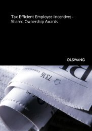 Shared Ownership Awards - Olswang