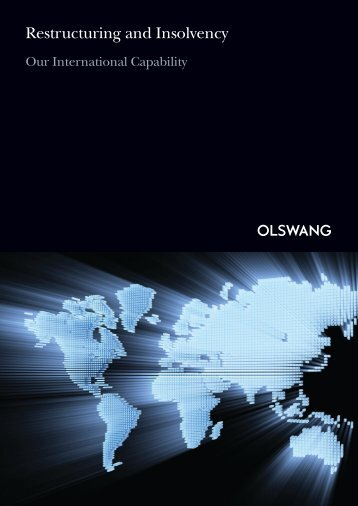Restructuring and Insolvency - Olswang