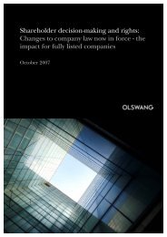 Shareholder decision-making and rights: Changes to ... - Olswang