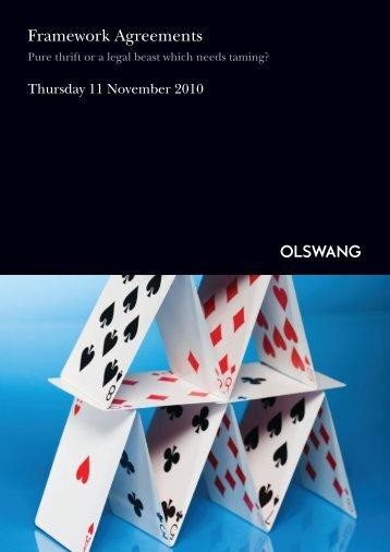 Framework Agreements - Olswang