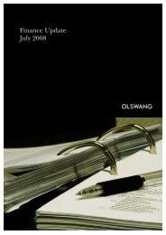 Finance Update July 2008 - Olswang