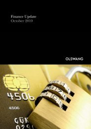 Finance Update October 2010 - Olswang