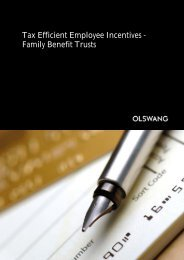 Tax Efficient Employee Incentives – Family Benefit Trusts - Olswang