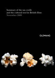 Summary of the tax credit and the cultural test for British ... - Olswang