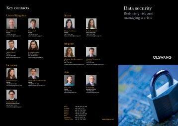 Data security - Olswang