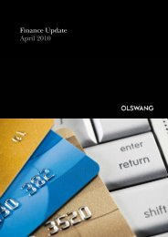 Finance Update April 2010 - Olswang