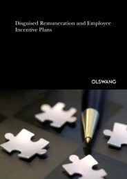 Disguised Remuneration and Employee Incentive Plans - Olswang