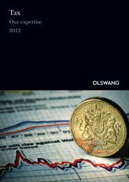 Our expertise 2012 - Olswang
