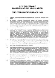 the communications act 2003 - Olswang