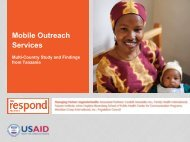 Mobile Outreach Services - the RESPOND Project!