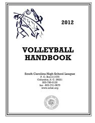 VOLLEYBALL HANDBOOK - South Carolina High School League