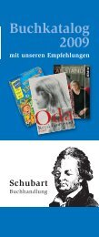 Buchkatalog 2009 - Buchhandlung Schubart