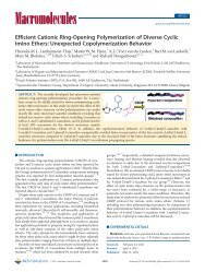 Efficient Cationic Ring-Opening Polymerization of Diverse Cyclic ...