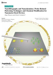 Nanolithography and Nanochemistry: Probe ... - Multiple Choices