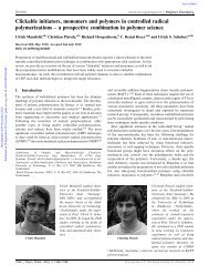 Clickable initiators, monomers and polymers in controlled radical ...