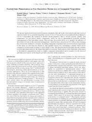 Excited-State Planarization as Free Barrierless Motion in a π ...